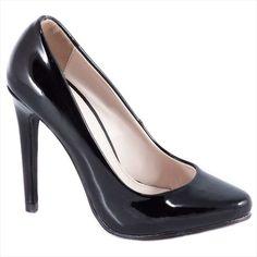 Pantofi negri cu toc 51598N-PU - Reducere 60% - Zibra Pumps, Heels, Fashion, Heel, Moda, Fashion Styles, Pumps Heels, Pump Shoes, High Heel