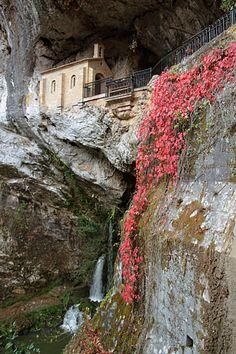 Cueva de Covadonga en Picos de Europa. Camino de Santiago, Asturias - Spain