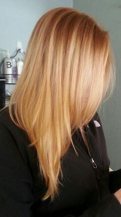 blonde balayage hair by daniel tetreault love this strawberry blonde highlighted color - Auburn Hair Color With Blonde Highlights