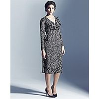 Project D London Madison Spot Wrap Dress - Large Size Clothing and Maternity Wear - www.plussizedglamour.co.uk