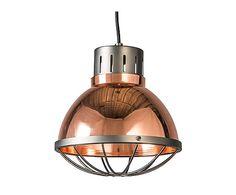 Lámpara de techo de metal Orbita, cobre - Ø25