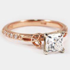 14K Rose Gold Luxe Celtic Love Knot Ring