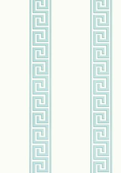 ANDREAS STRIPE, Aqua, T14239, Collection Imperial Garden from Thibaut
