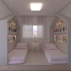 {Projeto uebaa} meninas e suas casinhas 🏠🏠🏠 Small Bedroom Designs, Small Room Bedroom, Girls Bedroom, Bedroom Decor, Bedrooms, Diy Toddler Bed, Kids Room Design, Girl Room, Massage