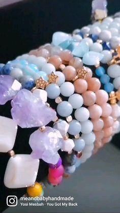 Crystal Jewelry, Boho Jewelry, Jewelry Gifts, Beaded Jewelry, Handmade Jewelry, Women Jewelry, Handmade Items, Beaded Bracelets, Unique Jewelry