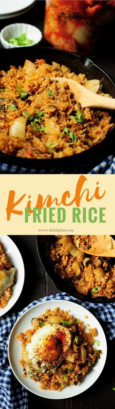This Kimchi fried rice is an easy and delicious dinner you can wrap up in just 30 minutes. It can be easily adapted to suit your family's taste.