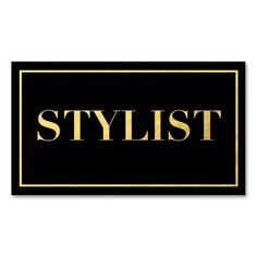 Black And Gold Foil | Modern Stylist Business Card