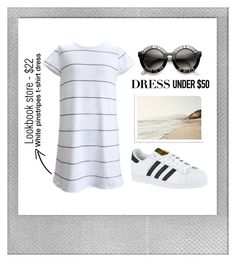 """cross my heart and hope to die"" by amxnduhh ❤ liked on Polyvore featuring Polaroid, adidas and Dressunder50"