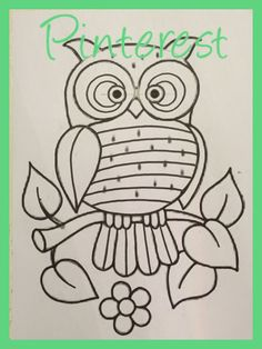 Patrón pinterest Embroidery Transfers, Hand Embroidery Patterns, Embroidery Applique, Cross Stitch Embroidery, Embroidery Designs, Wood Carving Patterns, Wood Patterns, Mundo Hippie, Owl Crochet Patterns