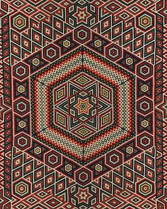 V Museum Quilts 1700 - 1945 at Queensland Art Gallery Antique Quilts, Vintage Quilts, Quilting Projects, Quilting Designs, Hexagon Quilt, Hexagon Patchwork, Textiles, English Paper Piecing, Sketches