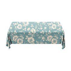 Tafelkleed Flower   Fleur je keuken op met dit weerbestendige tafelkleed bestaande uit geweven linnen met PVC.   #tafelkleed #keukentextiel #keuken #kleed #pvc #print #opdruk #tafel #weerbestendig #bloemen #blauw #patroon