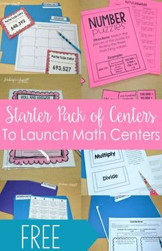 FREE Launching Math Centers Starter Pack for 3rd-5th Grade
