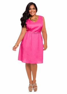 Ashley Stewart Women's Plus Size Linen Solid V-neck Dress Pink Paradise 12 Ashley Stewart,http://www.amazon.com/dp/B00D937F0I/ref=cm_sw_r_pi_dp_7HQ2rb11B8RRQSBW