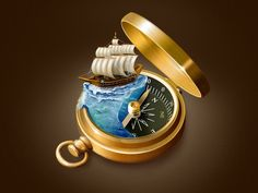 Compass Icon by Pardis