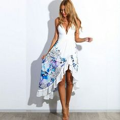 Womens Summer 2015 New Sexy Women Boho Long Maxi Party Dress Beach Dresses Sundress Sleeveless Desigual Floral Long Dress.$20.Small to Xl