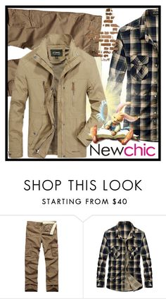 """Newchic #2."" by belma-cibric ❤ liked on Polyvore featuring men's fashion and menswear"