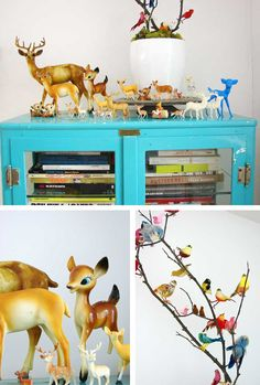 I love Abbey Henderson's collection of mini deer. Think I need to get one going of elephants, which i seem to love lately. via Tara Cadanelli