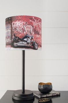 Narrative Decor Street Art Lamp Shade Light Em Up, Arts And Crafts For Adults, Sand Crafts, Wall Art Quotes, Graffiti Quotes, Learn Art, Fabric Shades, Drum Shade, Lampshades