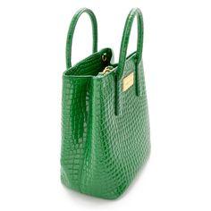 Bolso shopper vertical verde - aw2016 - Bimba y Lola