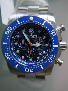 Deep Blue Juggernaut lll 500M Chronograph Divers Watch LE 0004/5000 #DeepBlue