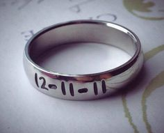 """Personalized Ring, Engraved Ring, Personalized/Engraved Ring """" Wedding Band Style"""", name Ring, Class Ring"""