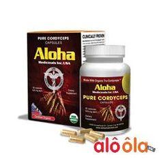 Aloha Cordyceps - Đông trùng hạ thảo Aloha Pure Cordyceps Capsules 90 viên của Mỹ