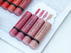 The full collection of Bourjois Rouge Velvet Matte Lipsticks including swatches. These are the BEST non-drying matte lipsticks as they have a really creamy formula which soon dries to give a beautiful matte finish.