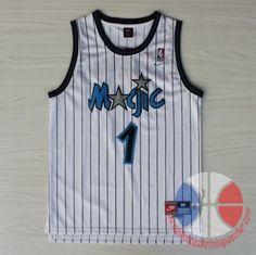 maillot de basket pas cher Orlando Magic Hardaway #1 Blanc mesh tissu