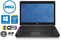 "Dell Latitude with 14"" LED Display, Intel Core i5, 8GB RAM, 320GB Hard Drive, DVD, Webcam, Windows 10  #plugsterpintowin"