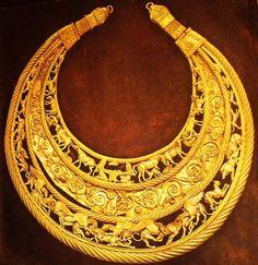 "Scythian Pectoral. 4th-century B.C. Discovered in the kurgan ""Tovsta Mohyla"", Dnepropetrovsk region, Ukraine."