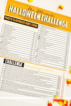 Halloween Scavenger Hunt with free printables