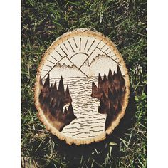 Mountain Scenery Wood Burn by VisuallyDesigned on Etsy https://www.etsy.com/listing/466720996/mountain-scenery-wood-burn