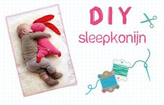 Sleepkonijn van Lief met patroon -- Free pattern for bunny Sewing Projects For Kids, Sewing For Kids, Diy For Kids, Gifts For Kids, Sewing Toys, Baby Sewing, Sewing Crafts, Sewing Patterns Free, Sewing Tutorials