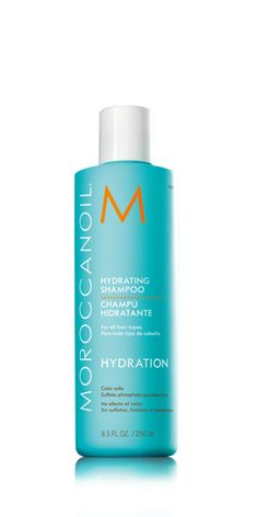 Moroccanoil Hydrating Shampoo is a gentle cleansing, moisturizing formula that infuses dehydrated hair with antioxidant argan oil and replenishing nutrients.