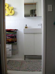 New Ensuite by Ninaribena1, via Flickr with IKEA Lillangen vanity and sink.
