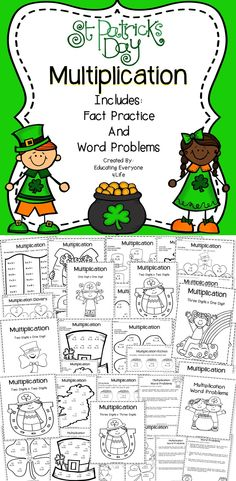 St. Patrick's Day Multiplication - This St. Patrick's Day Multiplication Activity Book Provides Meaningful Multiplication Activities For Students. #math