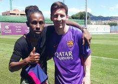 Reggae Star Jah Cure Meets Messi   The Jamaican Blogs