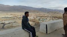 Backdrop of leh airport