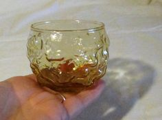 Vintage Crinkle Glass Cup Rounded Aztec Gold by LasLovelies Aztec Gold, Glass Replacement, Drinking Glass, Mead, Mixed Drinks, Crinkles, Wine Glass, Barware, Etsy Shop