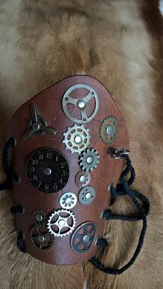 Steam Punk Leather Bracers by KandRArmory on Etsy