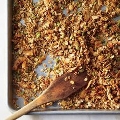 We change up the traditional oat and nut combo with big flakes of fragrant, crispy coconut and starchy, nutty buckwheat groats. It's amaz...