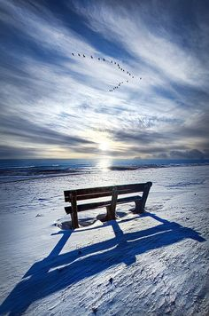Wisconsin Horizons  ........ Those Seconds Before........ #WINTER #SNOW #sky blue white amazing AWW beautiful nature landscape