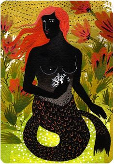 mermaid. $22.00, via Etsy.