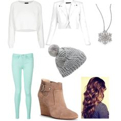 A fashion look from May 2015 featuring white sweater, white jacket and green jeans. Browse and shop related looks. Forever New, Polyvore Fashion, Tommy Hilfiger, Topshop, Shoe Bag, Winter, Stuff To Buy, Shopping, Collection