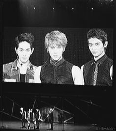 Onew, Taemin, & Minho (SHINee) being goofy.  (.gif set).