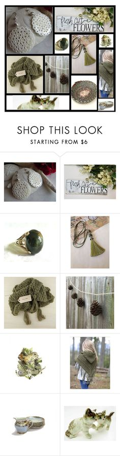 """""""Fresh Cut Flowers"""" by inspiredbyten ❤ liked on Polyvore featuring Scialle"""