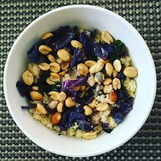Celebrating mom spending the day with me with some DE.LI.CI.OUS couscous with red cabbage, spinach, peanuts, S&P, and drizzled olive oil. Officially my favorite of this year! #thisisheavenly #thisisheavenlyfood #veggies #mylifestyle #heavenonearthgourmetaffairs #heavenonearthgourmet #healthy #healthyfood #healthyeating #healthyliving #cookmore #cookeatloverepeat #gourmet #gourmetfood #gourmetlife
