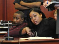 Denise Darbeau and Rachel Edwards in Manhattan Supreme Court on September 12, 2012 where they accepted a plea deal in exchange for no jail time on charges of third-degree burglary. The two were caught on video jumping the counter at a Greenwich Village McDonald's in October, after which they were beaten by employee Rayon McIntosh. McIntosh was not indicted.
