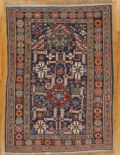 "Kuba prayer rug from Eastern Caucasus.Age: circa 1890 Size: 4'.9""x3'.6"" (145x107 cm)."