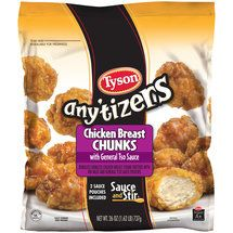 Walmart: Tyson Any'tizers Chicken Breast Chunks with General Tso Sauce, 26 oz - not great